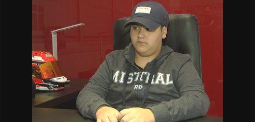 Con 13 años quiere debutar en automovilismo